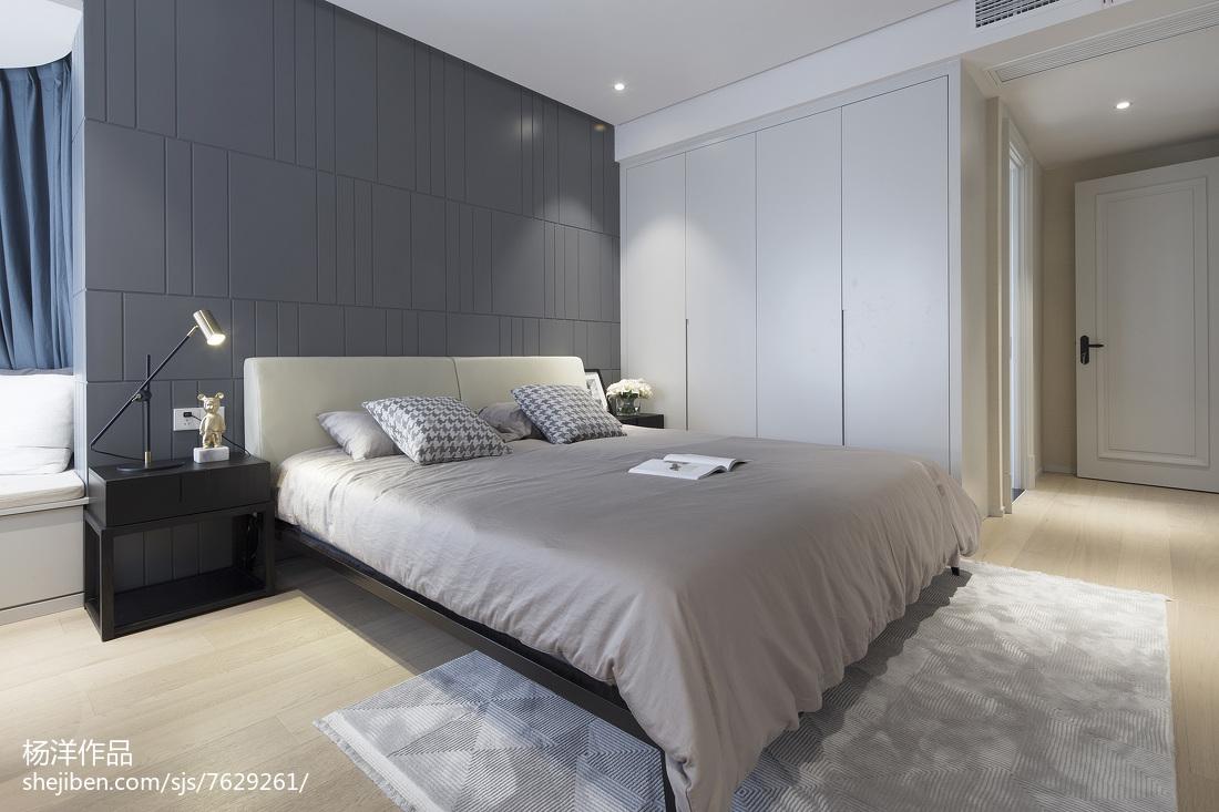 热门面积106平现代三居卧室装饰图片卧室床现代简约卧室设计图片赏析