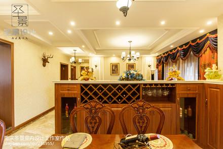华丽118平新古典三居餐厅效果图片大全厨房