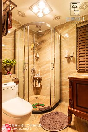 2018精选面积104平新古典三居卫生间装饰图片卫生间美式经典设计图片赏析