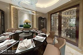 热门140平方混搭别墅餐厅装修实景图片大全