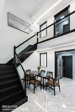 180m²现代黑白灰楼梯设计图