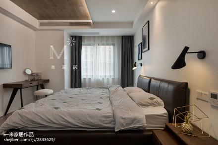 201895平方三居卧室现代装修实景图片