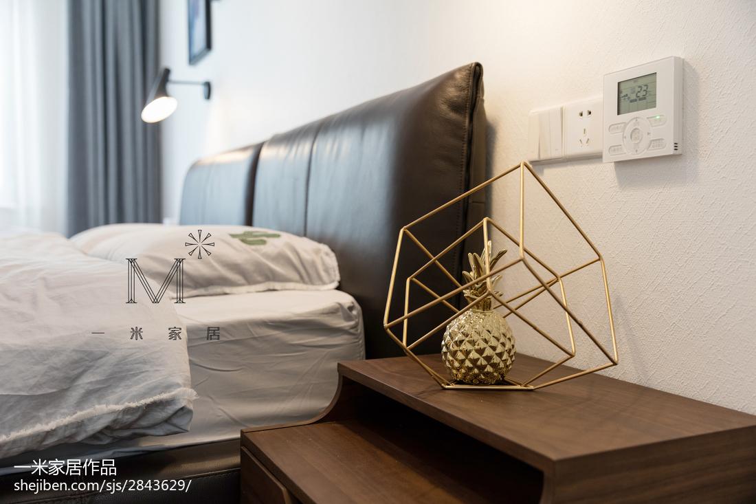 质朴73平现代三居卧室效果图片大全卧室现代简约卧室设计图片赏析