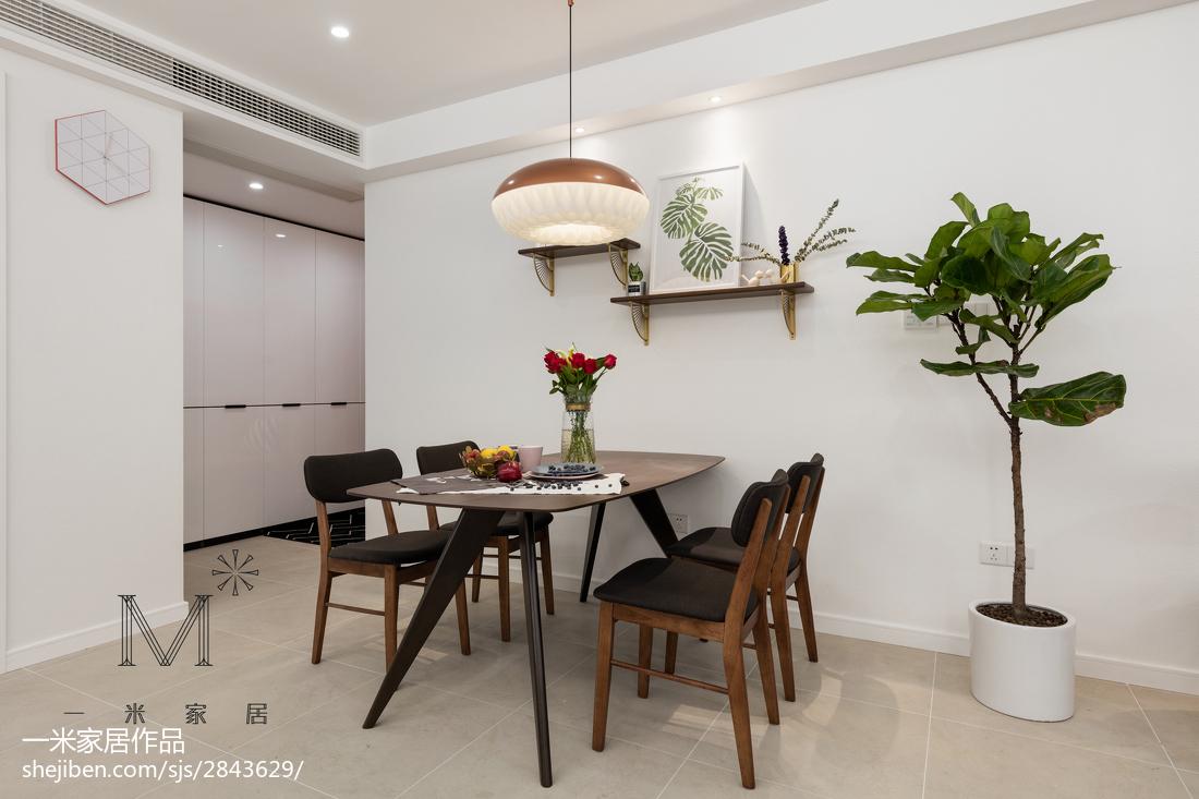 热门105平米三居餐厅现代装修效果图片欣赏厨房现代简约餐厅设计图片赏析