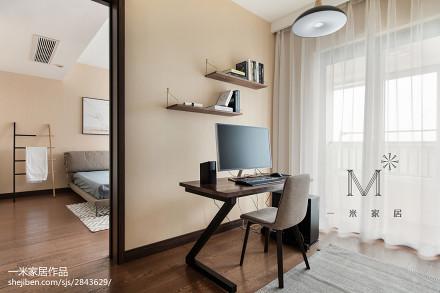 精选面积103平现代三居书房装修实景图片