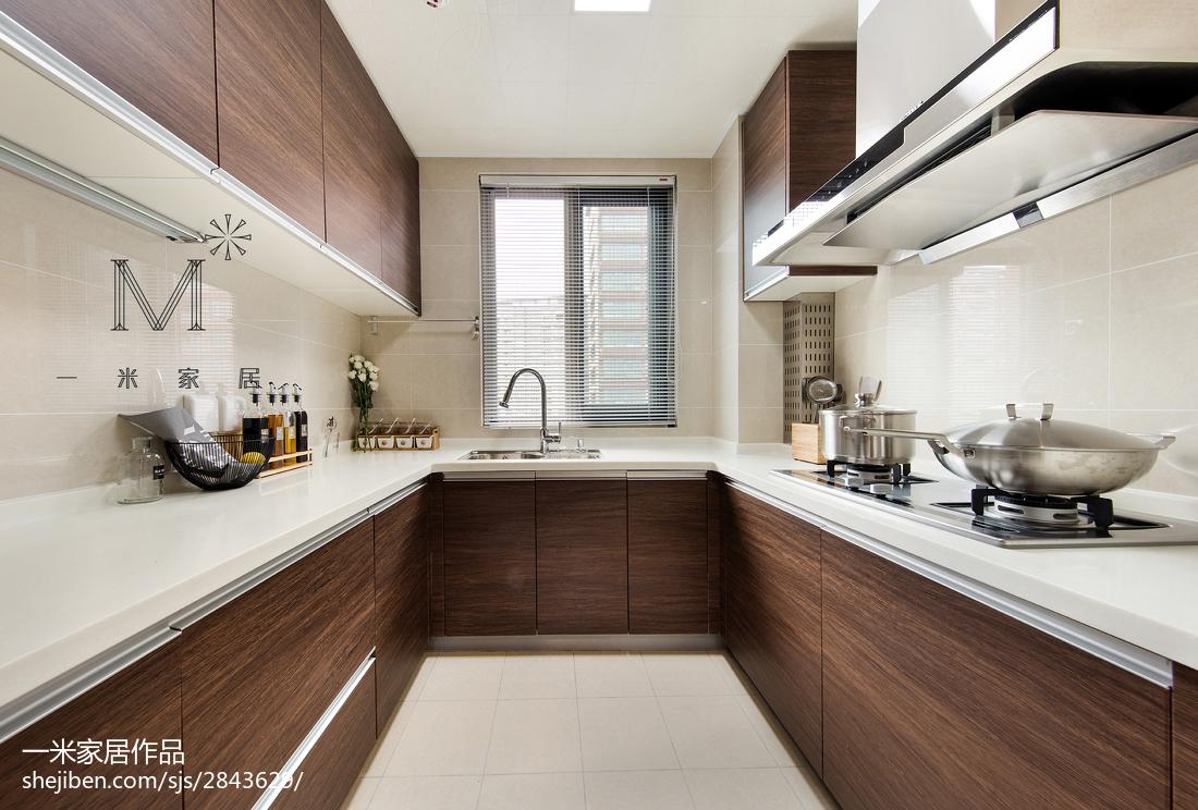 平米三居廚房現代裝飾圖餐廳現代簡約廚房設計圖片賞析