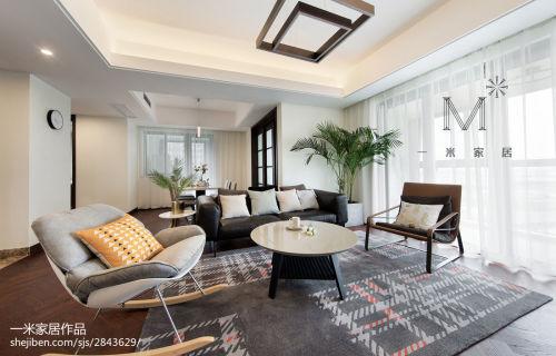 2018面积97平现代三居客厅实景图片客厅窗帘