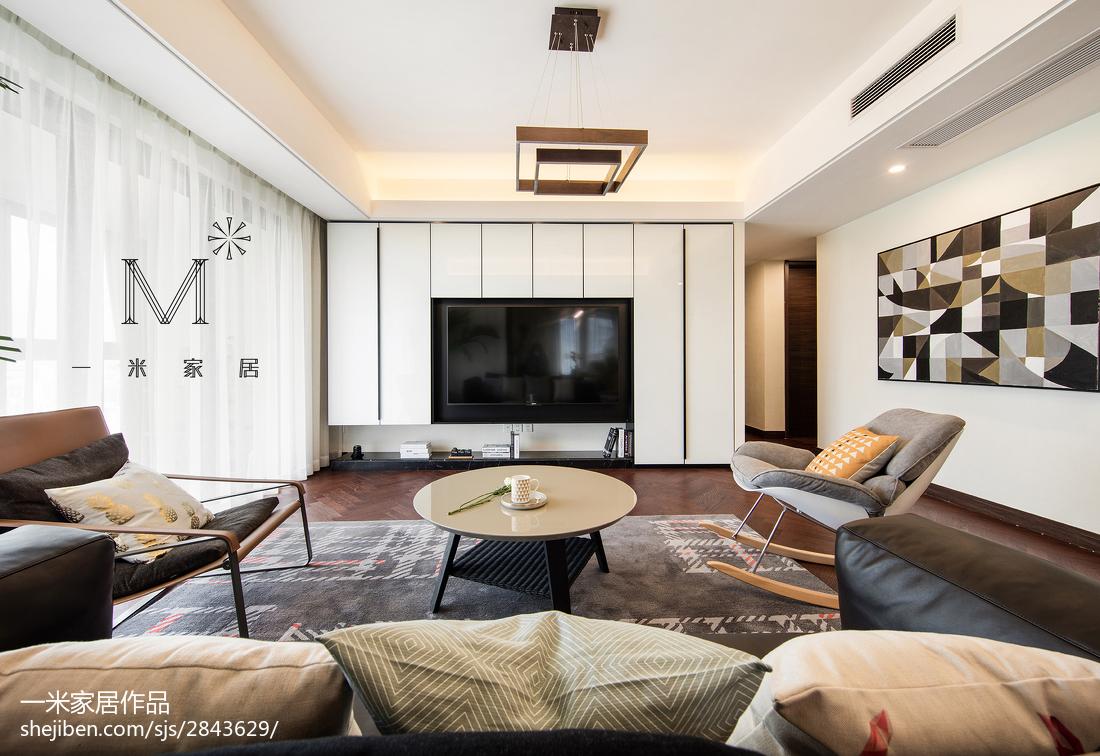 精美面积104平现代三居客厅装修设计效果图片大全客厅