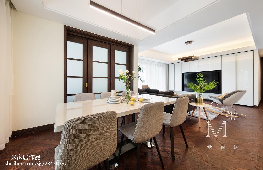 简洁122平现代三居休闲区装饰图厨房1图现代简约餐厅设计图片赏析