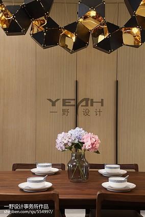 精选面积144平复式餐厅简约效果图片欣赏