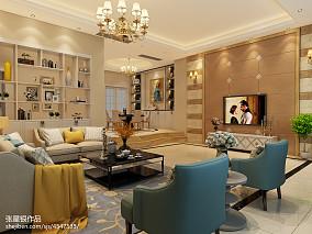 2018面积134平复式客厅简约实景图片大全