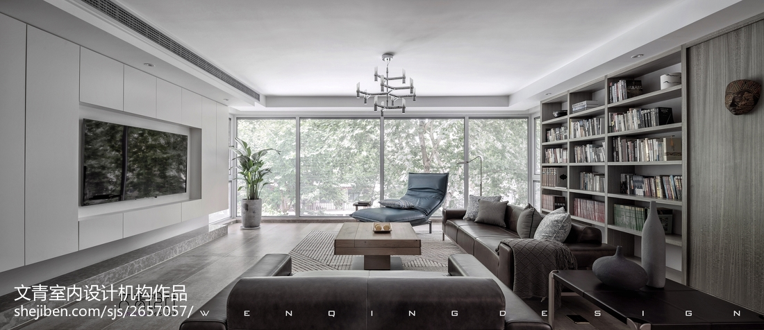 """《吴山·隐》,你之所在,心之所归""""杭城现代简约大宅客厅现代简约客厅设计图片赏析"""