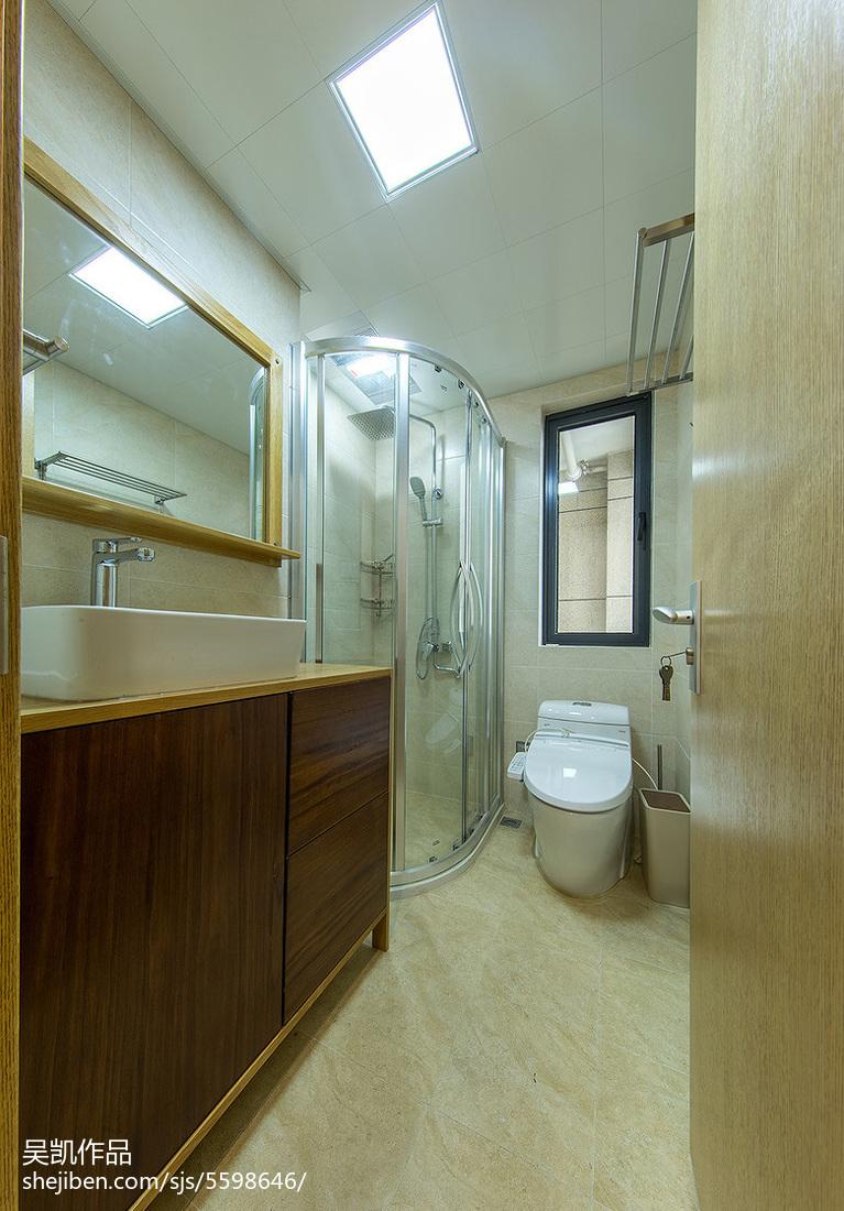 精选91平米三居卫生间北欧欣赏图片卫生间马桶北欧极简卫生间设计图片赏析