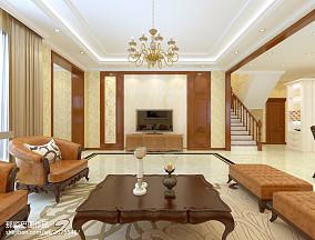 热门别墅客厅简约装修实景图片