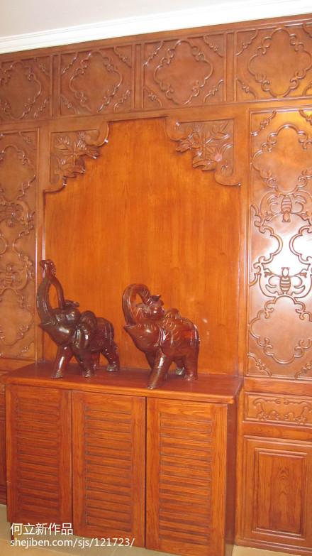 精美中式别墅玄关装饰图片玄关