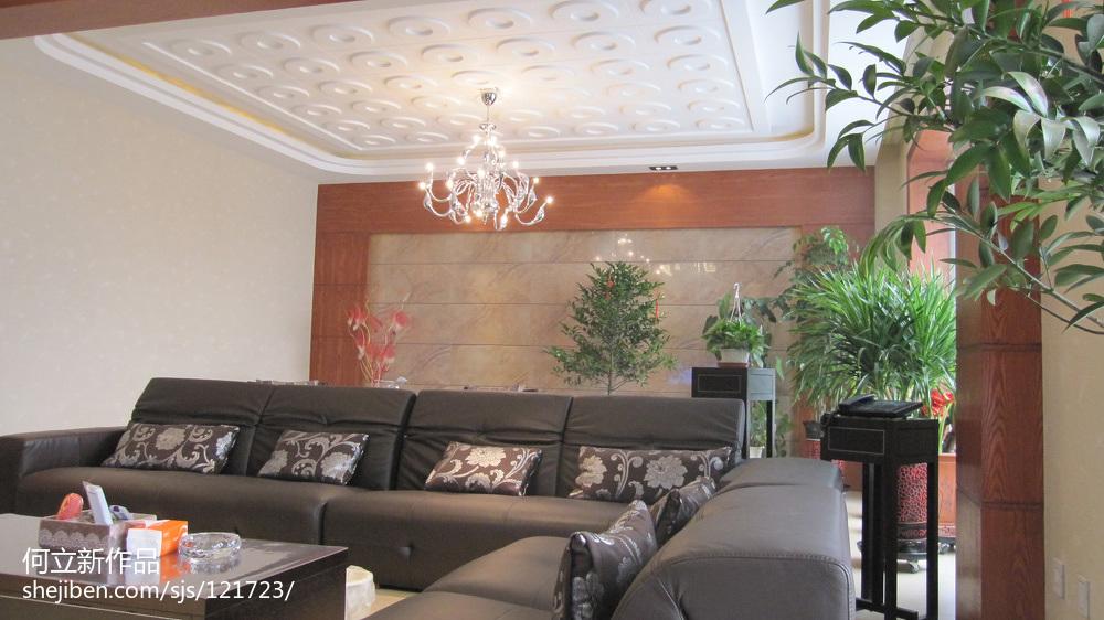 质朴408平中式别墅客厅效果图片大全客厅中式现代客厅设计图片赏析