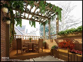 精选面积125平别墅花园欧式装修图片欣赏
