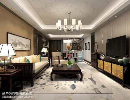 大气111平中式三居客厅装修装饰图