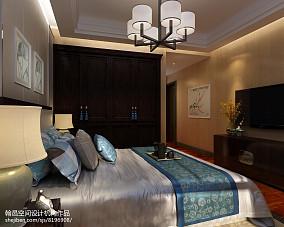 2018精选大小106平中式三居卧室装修欣赏图121-150m²三居中式现代家装装修案例效果图