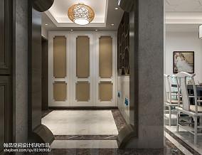 精选中式三居玄关设计效果图121-150m²三居中式现代家装装修案例效果图