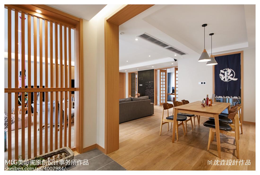 2018精选日式三居玄关装修设计效果图片玄关木地板日式玄关设计图片赏析