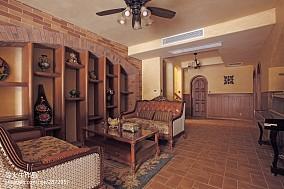 热门面积111平别墅休闲区美式效果图片欣赏