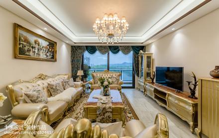 优雅313平欧式样板间客厅设计美图客厅