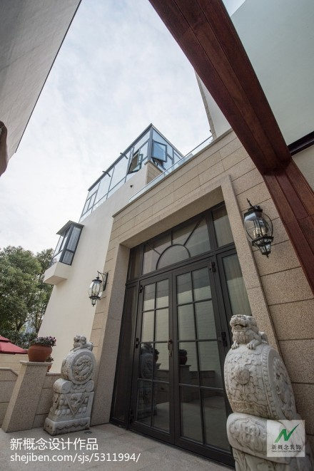 2018139平米美式别墅花园装修效果图片欣赏