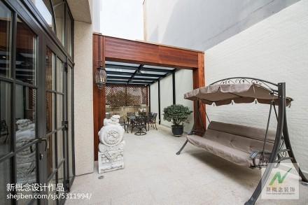 2018精选137平米美式别墅花园装修实景图片大全