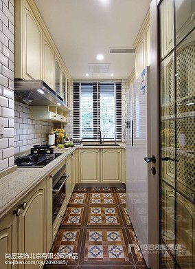 热门面积137平别墅厨房美式效果图
