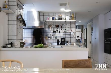 优美54平日式二居厨房效果图餐厅