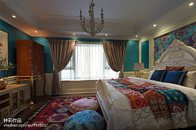 精美93平方三居卧室混搭装修图片大全