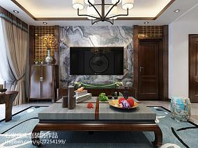 中式现代风格客厅家装效果图