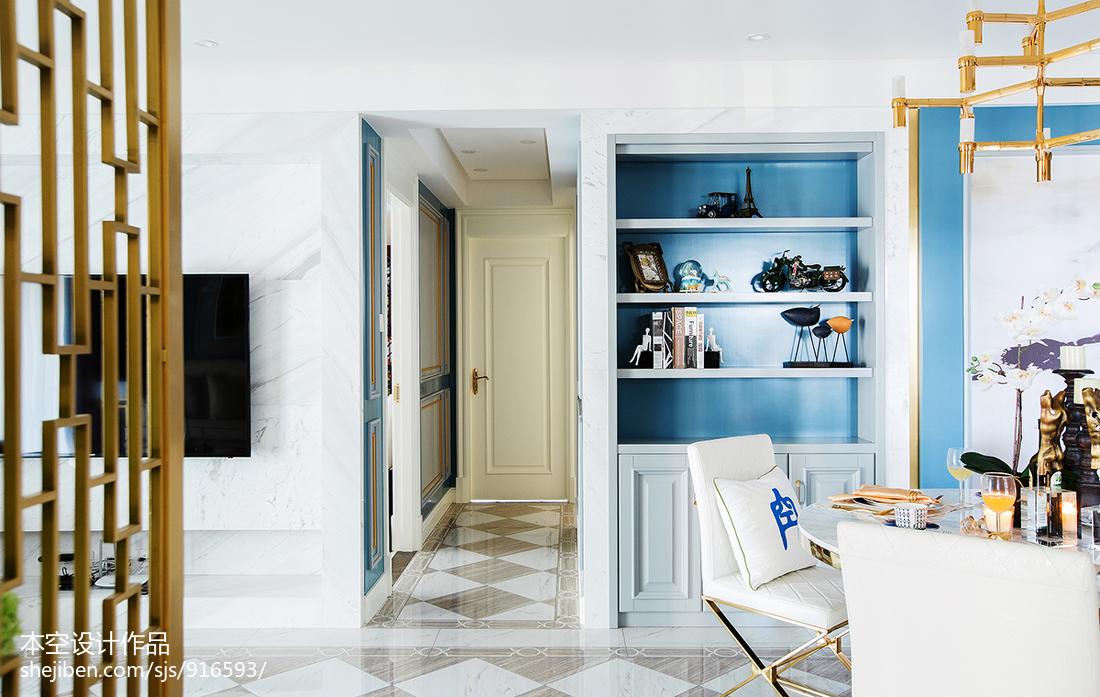 热门108平方三居客厅混搭装修设计效果图片大全客厅