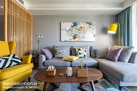 141平米北欧复式客厅装饰图片欣赏