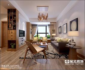 2018精选面积90平日式三居客厅装饰图片欣赏