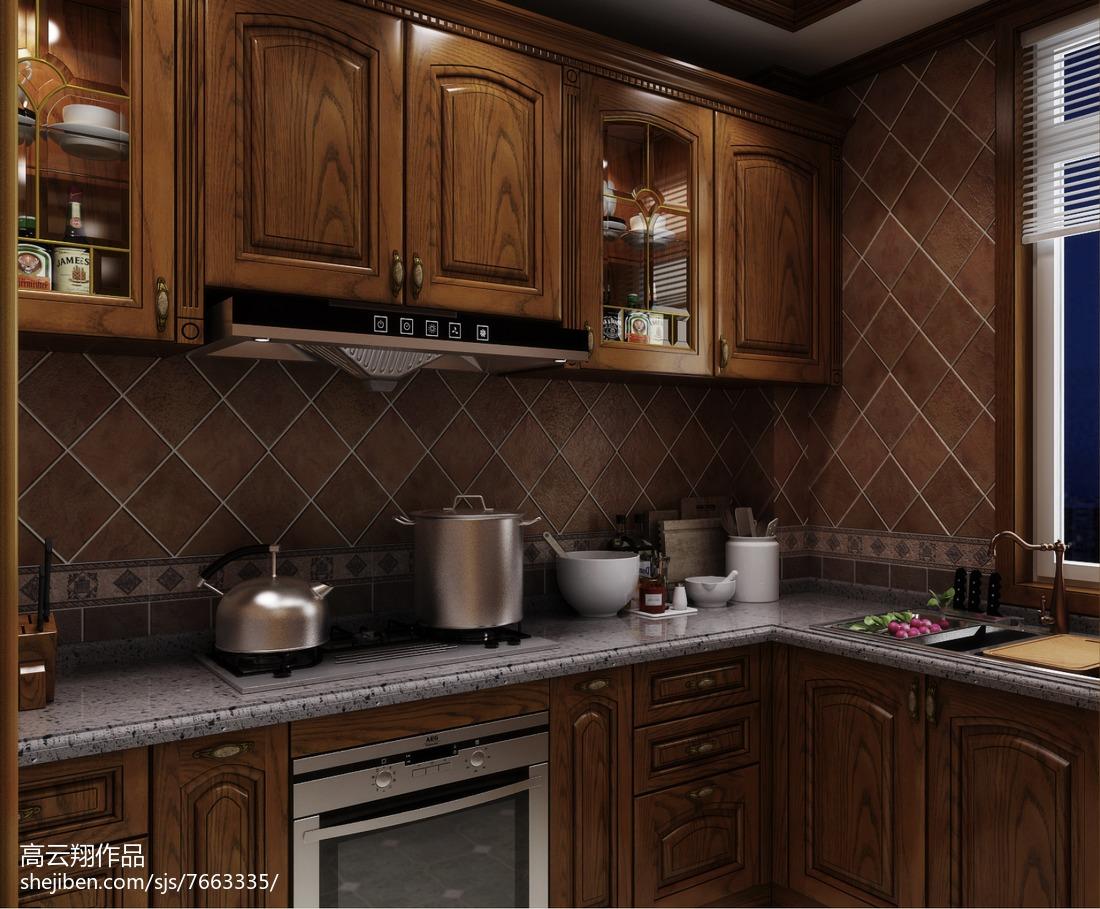 最火136平米欧式别墅厨房装修效果图