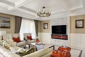 美式豪宅背景墙设计图片客厅1图美式经典设计图片赏析