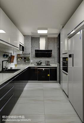精美面积131平复式厨房现代效果图片欣赏