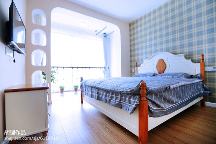 平地中海二居卧室效果图卧室2图