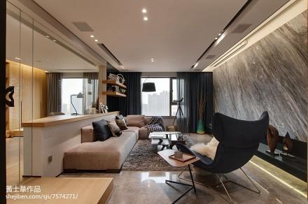 现代风格二居客厅设计图二居现代简约家装装修案例效果图