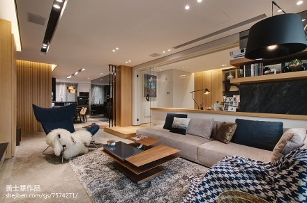 现代风格二居客厅沙发设计图客厅