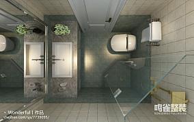 158平新中式风格现代卫生间效果图