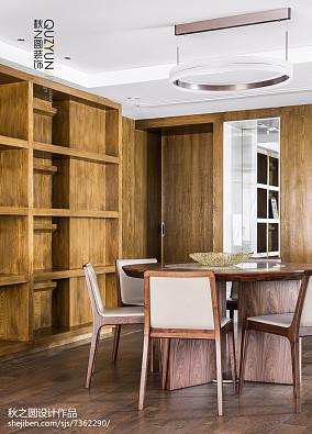 2018精选面积118平现代四居餐厅装修欣赏图片