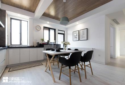 大气90平北欧二居餐厅实景图片厨房