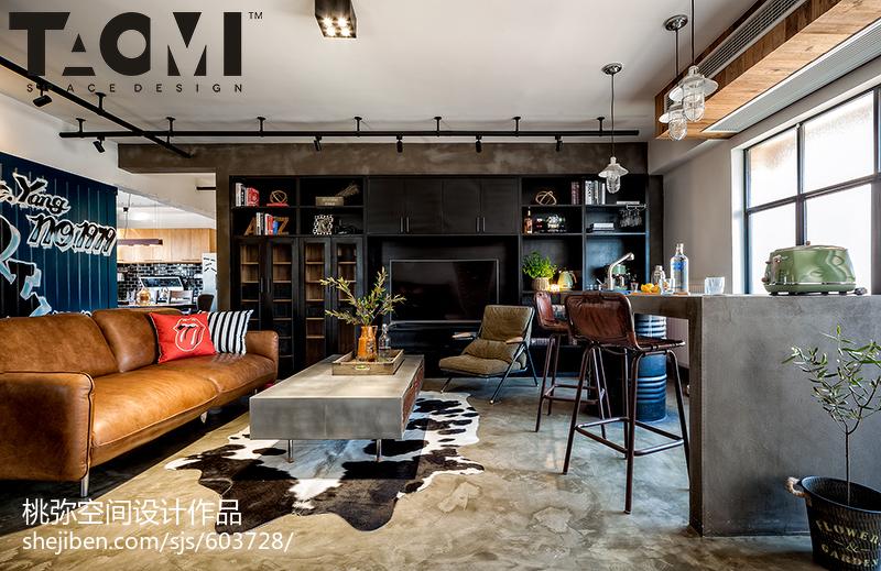 精选104平大小客厅三居混搭装修设计效果图片欣赏客厅