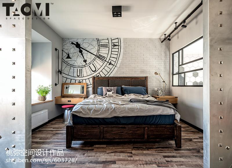 热门104平米三居卧室混搭装修图片大全卧室