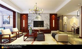 精美97平米三居客厅中式装修实景图片