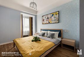 精选面积93平北欧三居卧室装修效果图