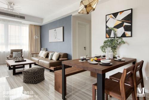 108平北欧风客厅餐厅一体设计图客厅沙发